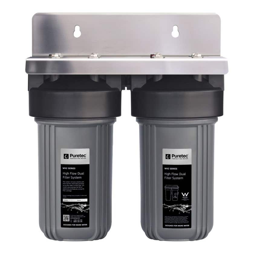 Puretec High Flow Whole House Dual Water Filter System
