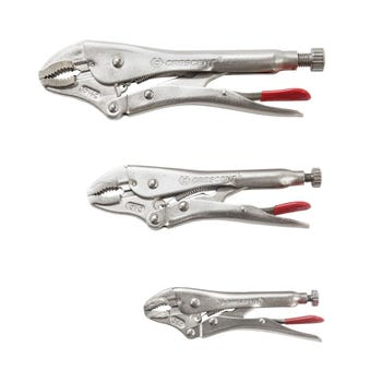 Crescent Curved Jaw Locking Plier Set - 3 Piece
