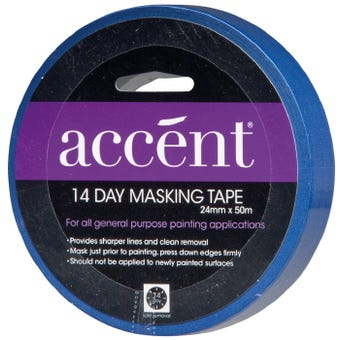 Accent® 14 Day Masking Tape 24mm x 50m