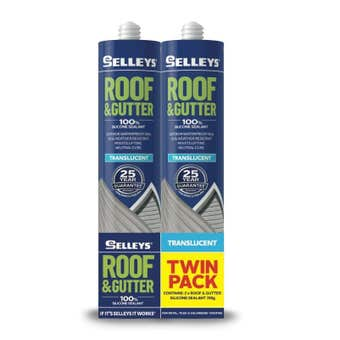Selleys Roof & Gutter Silicone Twin Pack Translucent 310g