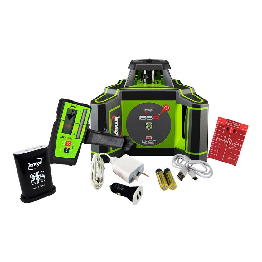 Imex Horizontal Rotating Laser W/Tripod & 5m Staff I66R