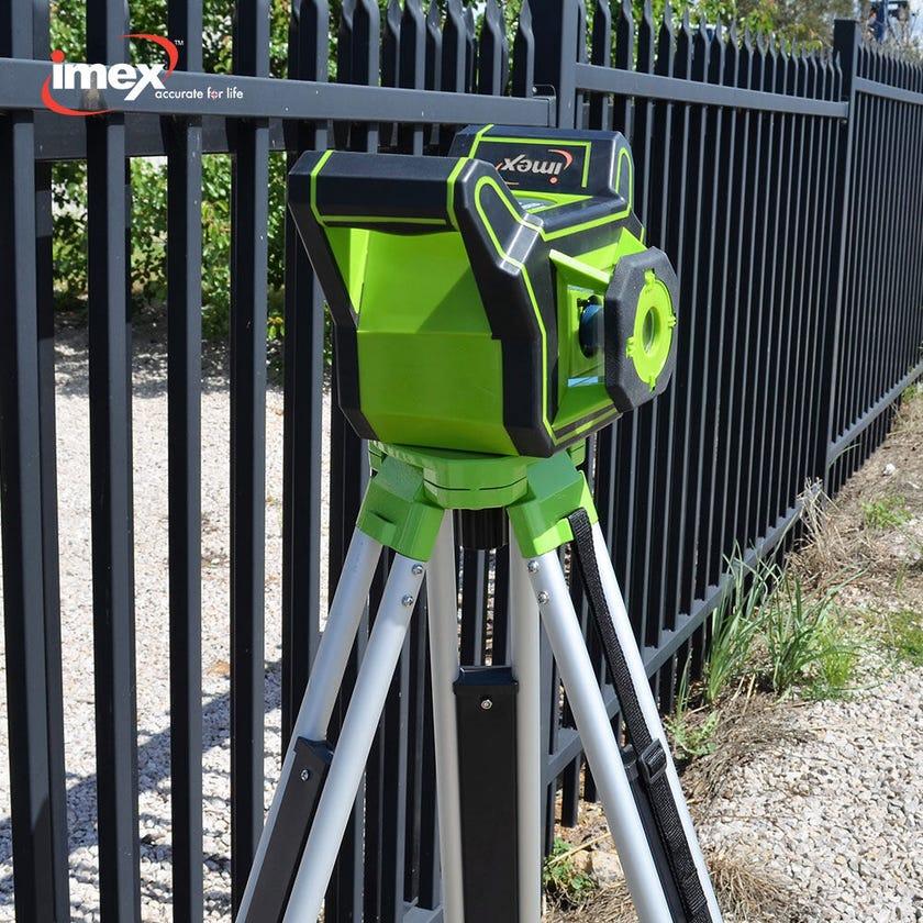 Imex Rotating Laser Level Green Beam With Tripod I88G