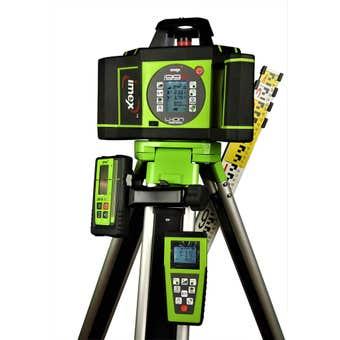 Imex Laser Level With Tripod & Staff Dual Grade I99R