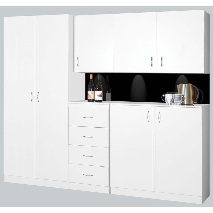 Faulkner 2 Door 4 Shelf Slim Cabinet 600mm
