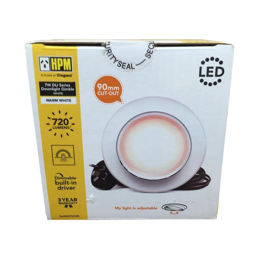 HPM DLI Tilt Dimmable Downlight Warm White 7W