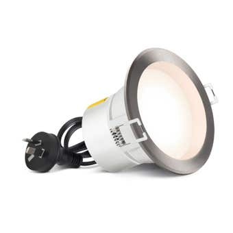 HPM DLI LED 7W Downlight Cool White Brushed Chrome 90mm Cut Out