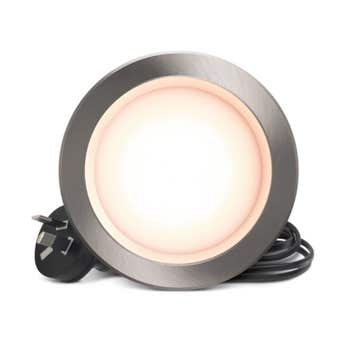 HPM DLI LED Downlight Brushed Chrome Warm White 7W 90mm