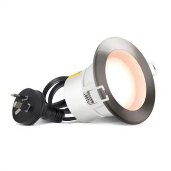HPM DLI LED Downlight Warm White Brushed Chrome 5W 70mm