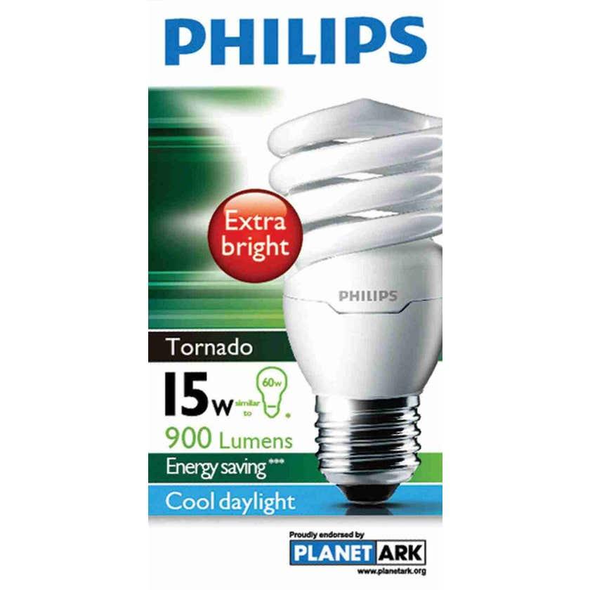 Philips Tornado Globe CFL 15W ES Cool Daylight