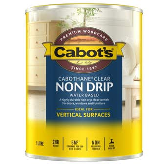 Cabot's Cabothane Non Drip Water Based Gloss Clear 1L
