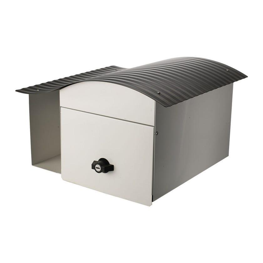 Sandleford Epic Letterbox White/Woodland Grey