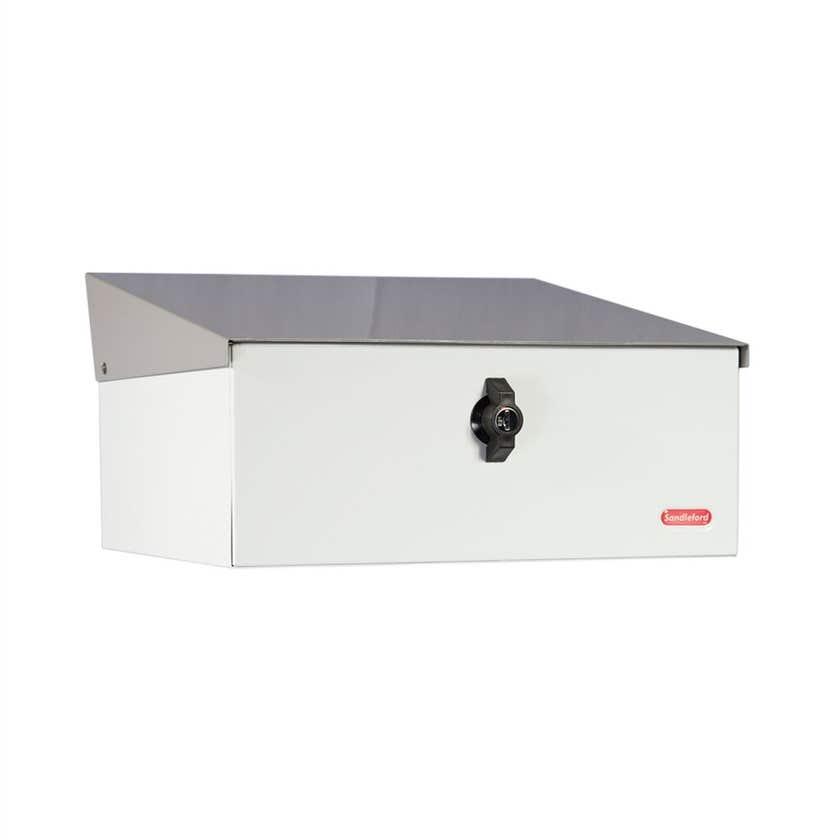 Sandleford Condo Letterbox White/Silver