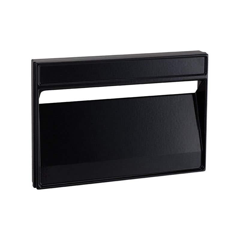 Sandleford Lazio Rear Opening Letterbox Black