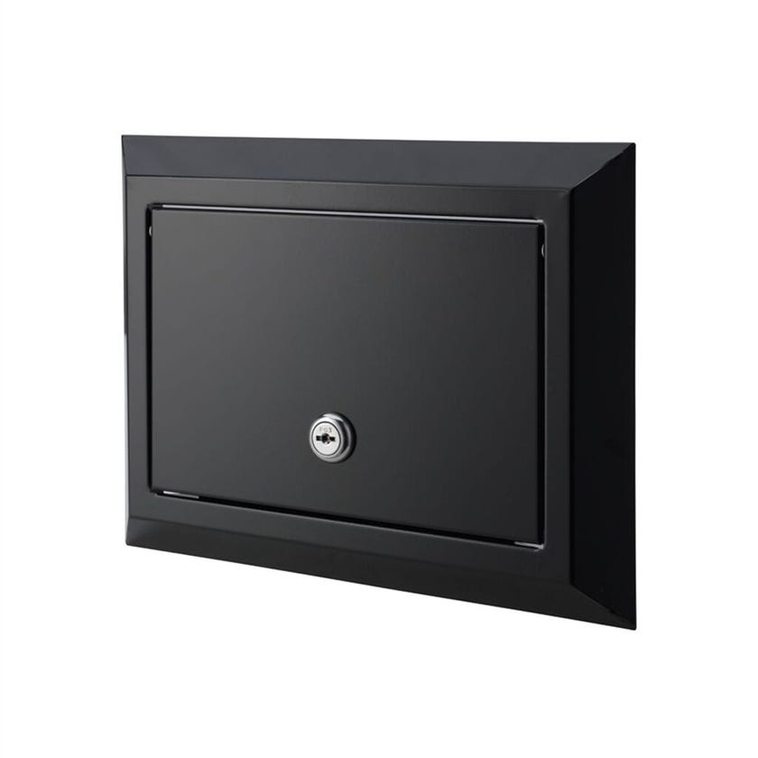 Sandleford Eclipse Rear Opening Letterbox Black