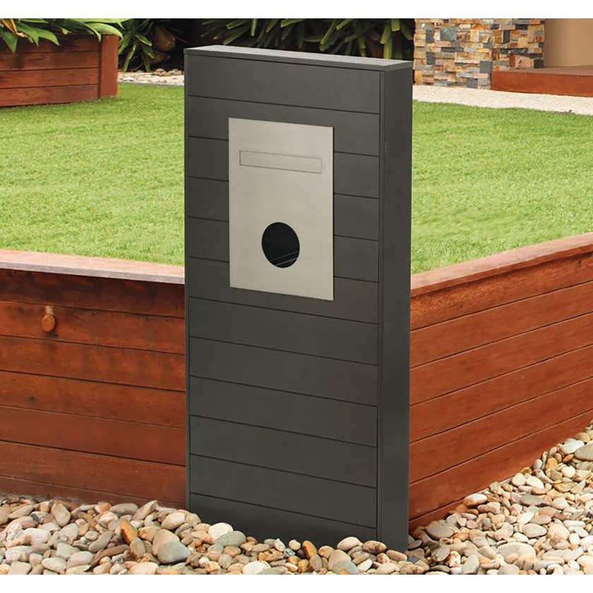 Sandleford Lincoln Mailbox Pillar Timber Look