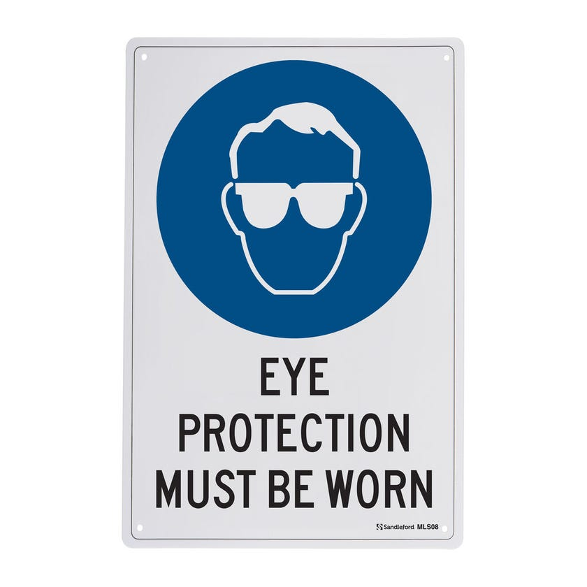 Sandleford Eye Protection Must Be Worn Sign