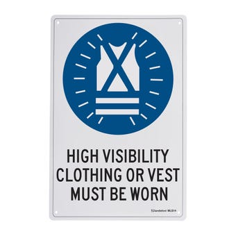 Sandleford High Visibililty Vest Must Be Worn Sign