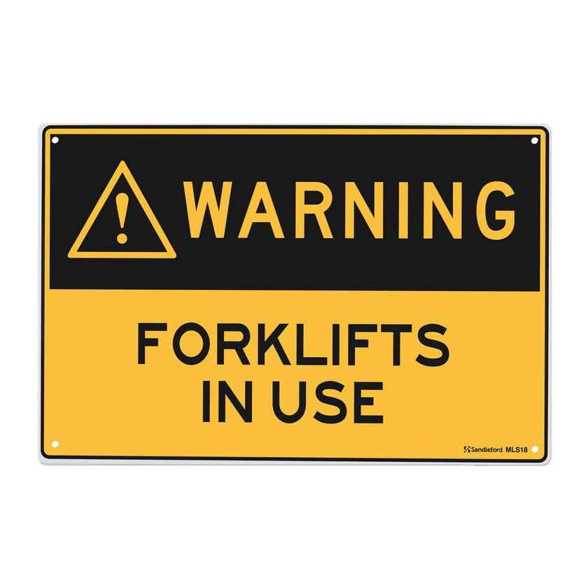 Sandleford Warning Forklifts In Use Sign