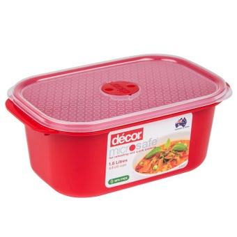 Decor Microsafe Oblong Container 1.6L