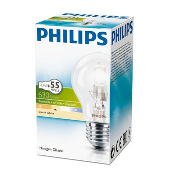 Philips Halogen Globe GLS 42W ES Frosted