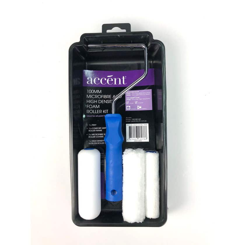 Accent Microfibre and Foam Mini Roller Kit 100mm