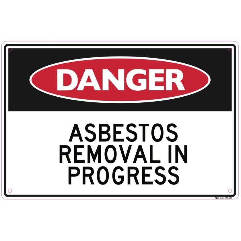 Sandleford Asbestos Removal In Progress Sign