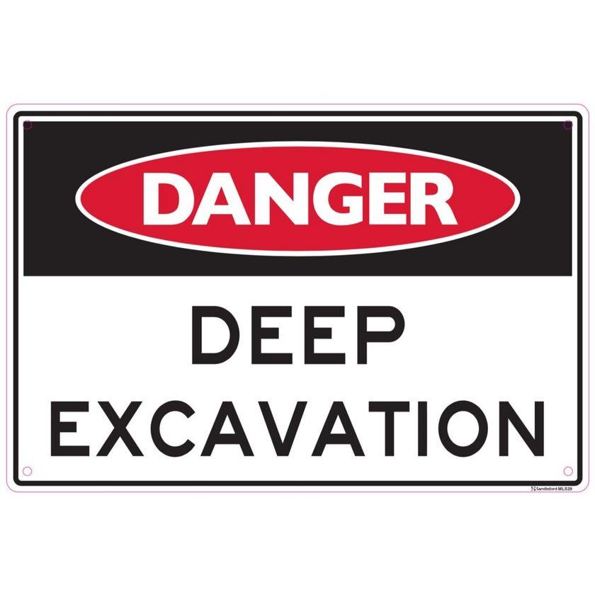 Sandleford Danger Deep Excavation Sign