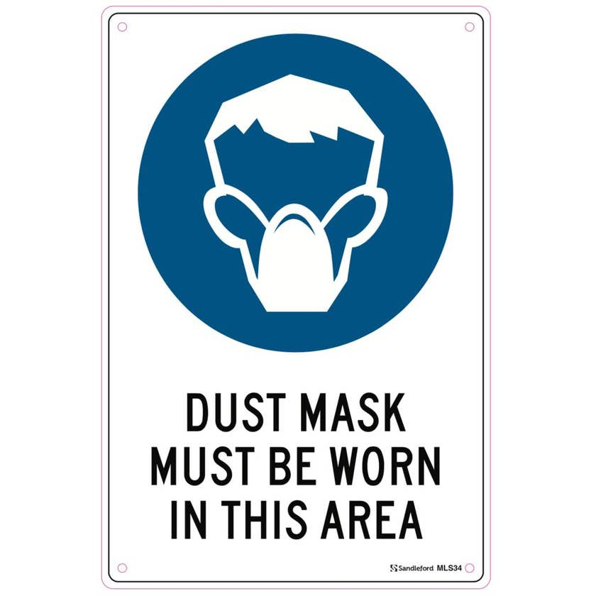 Sandleford Dust Mask Must Be Worn Sign