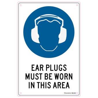 Sandleford Ear Plugs Must Be Worn Sign