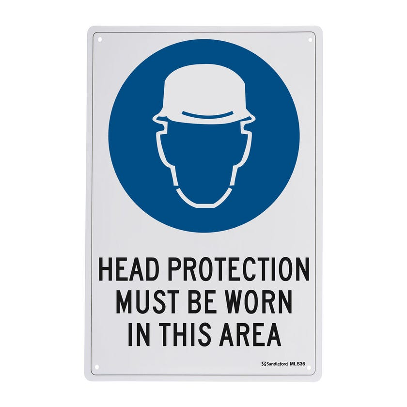 Sandleford Head Protection Must Be Worn Sign