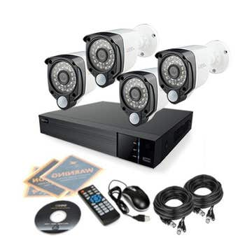 Q-See CCTV Kit with 4 PIR HD Cameras and 8 Channel DVR