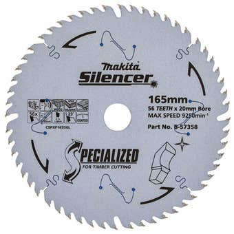 Makita Circular Saw Blade Specialized for Timber 56T 165mm