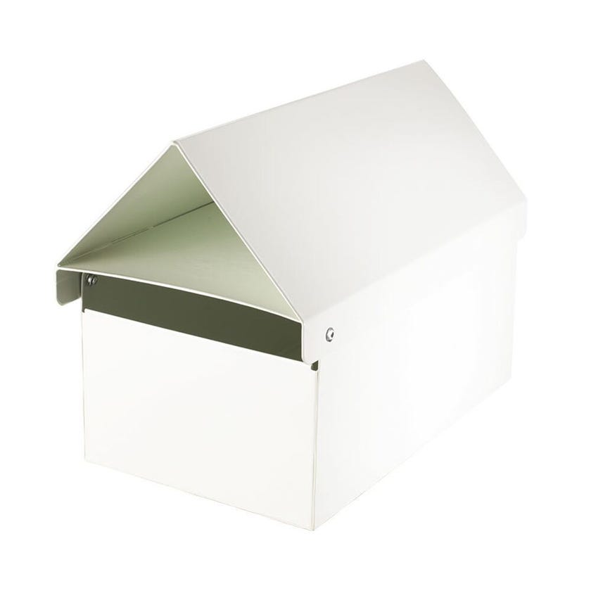 Sandleford Crest Letterbox White