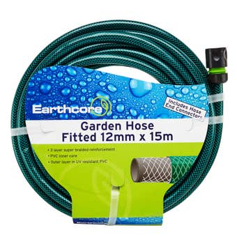 Earthcore Garden Hose Fitted 12mm x 15m