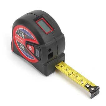 Workpro 2 In 1 Laser & Tape Measure