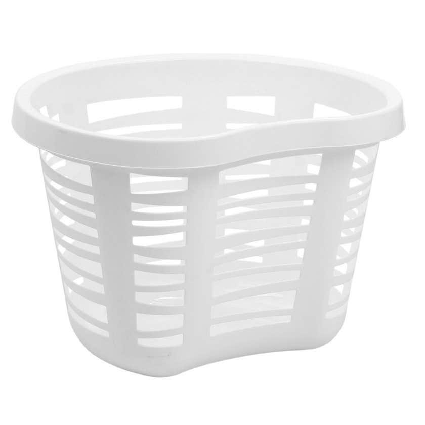 Buy Right Laundry Basket Round White 30L