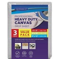 Monarch Heavy Duty Canvas Drop Sheets - 3 Pack