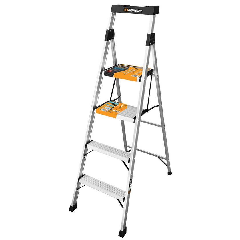 Hurricane 4 Step Dual Platform Ladder 120kg