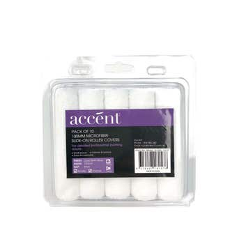 Accent Microfibre Roller Cover 100mm - 10 Pack