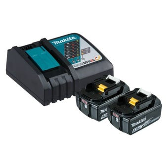 Makita 18V 5.0Ah Li-Ion Charger & Battery Combo