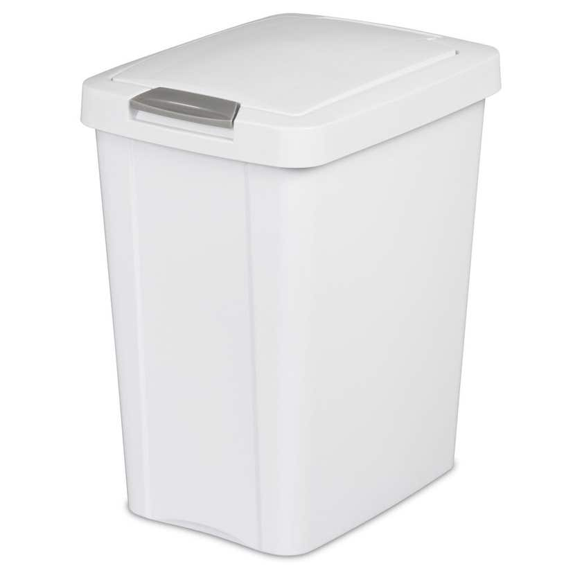Sterilite Waste Basket Touch Top White 28L