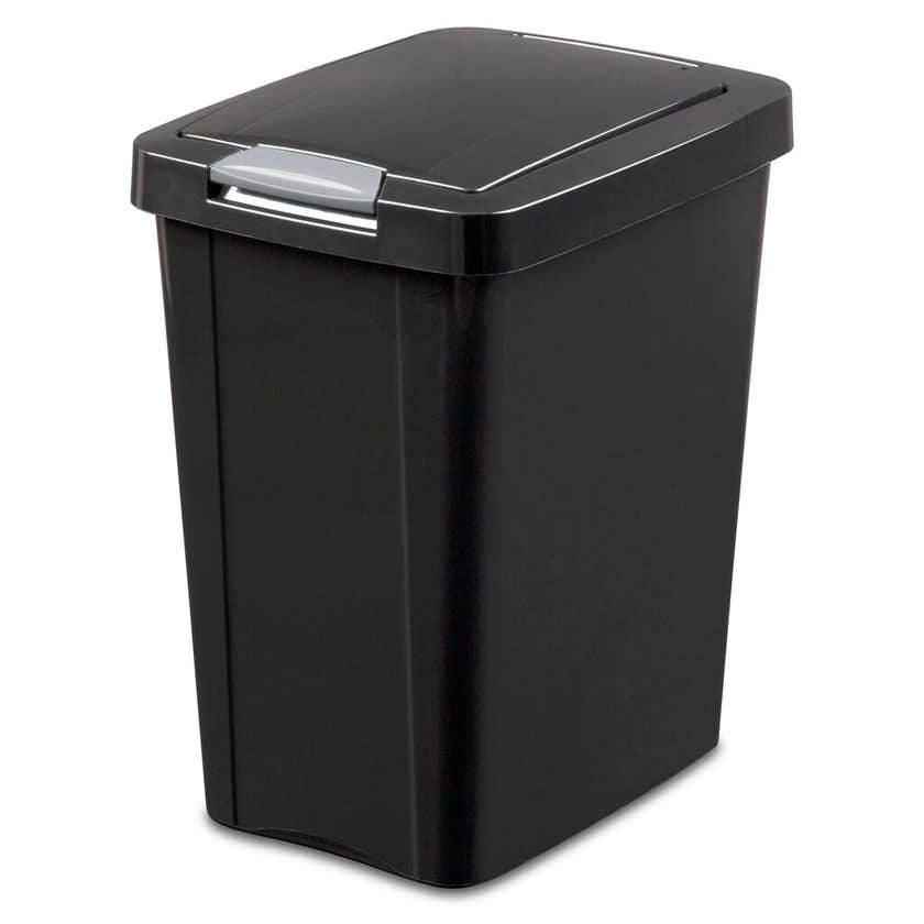 Sterilite Waste Basket Touch Top Black 28L