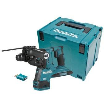 Makita 18V x 2 Brushless AWS 28mm SDS Plus Rotary Hammer Skin DHR282ZJU