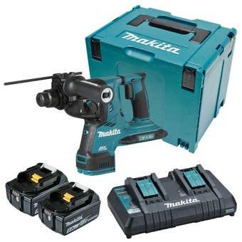 Makita 18V x 2 Brushless AWS** 28mm SDS Plus Rotary Hammer Kit DHR282PT2J