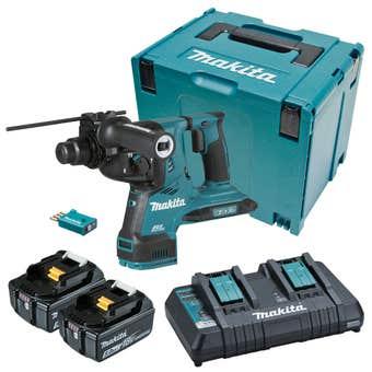 Makita 18V x 2 Brushless AWS 28mm SDS Plus Rotary Hammer Kit DHR282PT2JU