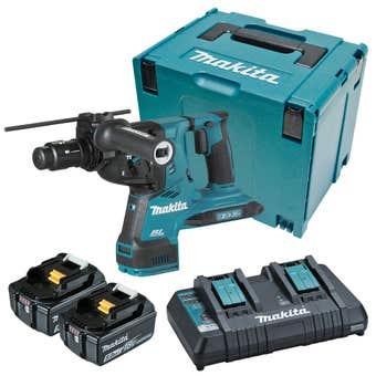 Makita 18V x 2 Brushless AWS** 28mm SDS Plus Rotary Hammer Kit DHR283PT2J