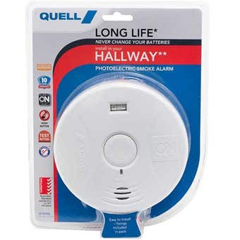 Quell Long Life Photoelectric  Smoke Alarm for Hallway with Escape Light