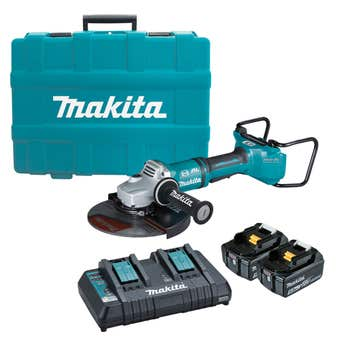 "Makita 18V x 2 Brushless AWS 230mm (9"") Angle Grinder Kit DGA901T2U1"