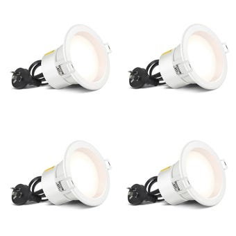 HPM LED Dimmable Downlight Cool White 7W 90mm - 4 Pack