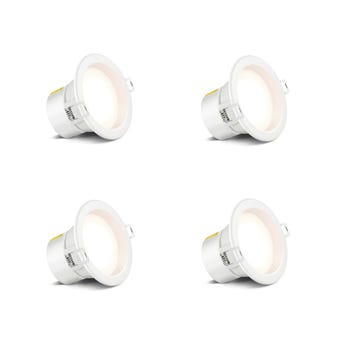 HPM LED Downlight Non Dimmable Cool White 7W 70mm - 4 Pack